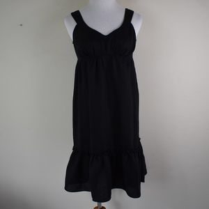 Mossimo Size XS Black Linen Empire Waist Dress